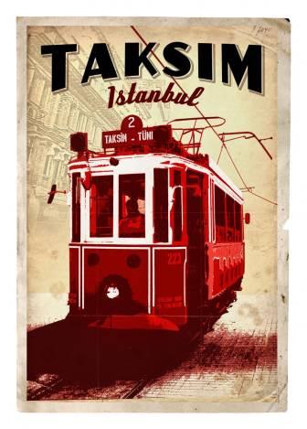 Taksim'de Tramvay
